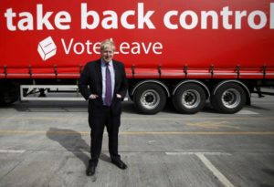 """London Mayor Boris Johnson attends an """"Out"""" campaign event, in favour of Britain leaving the European Union, at Europa Worldwide freight company in Dartford, Britain March 11, 2016. REUTERS/Peter Nicholls"""