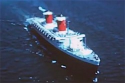 13. An aerial view of the S.S. United States, during her glory years.