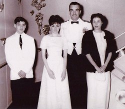 12. Program guest, Georgia Lambert (2nd from left) was lovely as she travelled aboard the SS United States, in the mid-1960s.