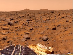 1020 Martian Boulder Field, product of massive flood deposition