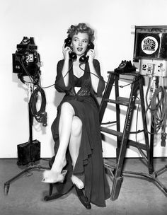 marilyn on the phones