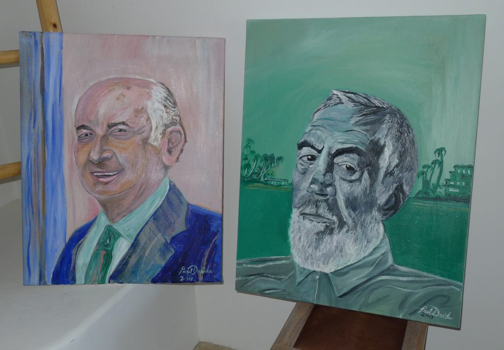 2 PAUL KOHNER & JOHN HUSTON PORTRAITS (2)