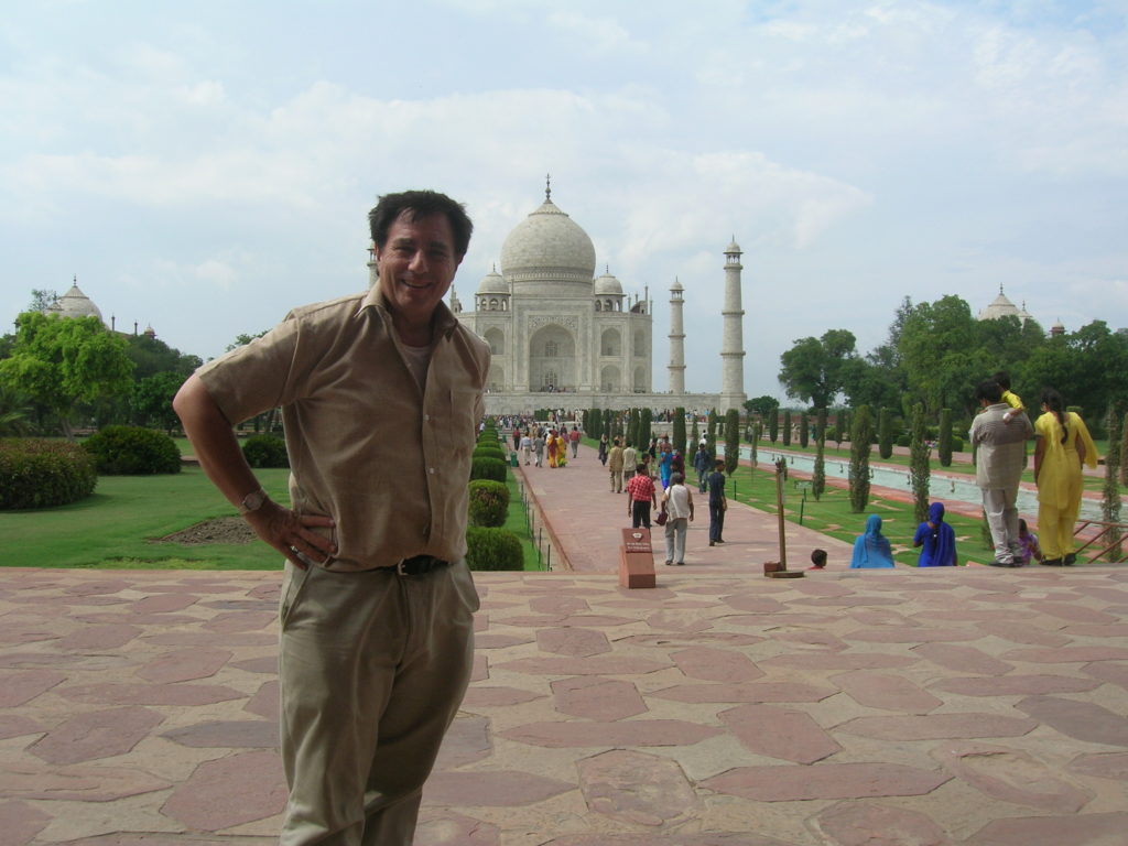 7 PRODUCER-DIRECTOR PAUL DAVIDS AT THE TAJ MAHJAL