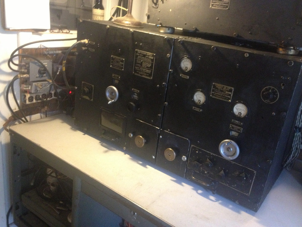 RAB-4 receiver installed in the control room of WBCQ