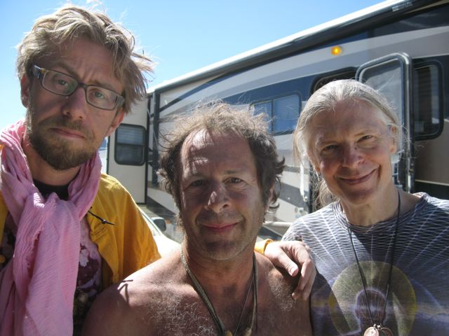 Daniel Pinchbeck, Rick Doblin and Alex Grey Burning Man 2008