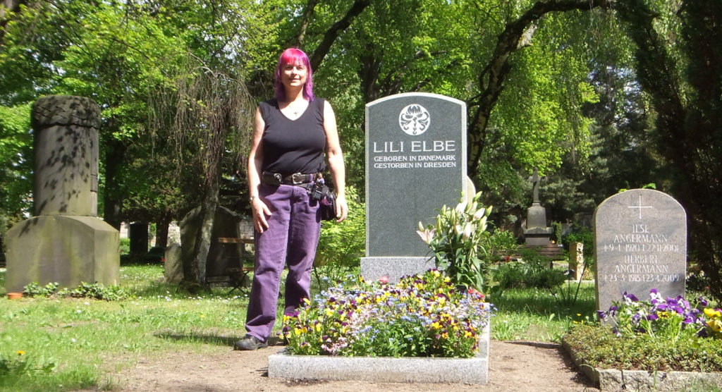 Lili Elbe's restored grave in Dresden, Germany