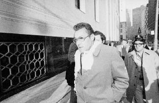 "16. Salvatore ""Sally Bugs"" Briguglio in December 1975 after appearing before the grand jury investigating the Hoffa disappearance."