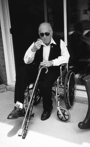 "22. ""The Irishman"" on his patio in October 2001, a few months before entering a nursing home"