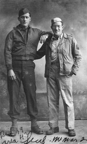 2. Frank Sheeran (left) with war buddy Alex Siegel one month before Siegel was killed in action during the Salerno invasion