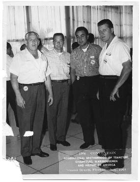 5. Sheeran (right), sergeant-at-arms at the 1961 Teamsters Convention in Miami Beach, Florida.