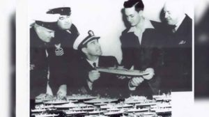 1 Tompkins_shows_Naval_officers_his_models