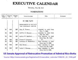 4. Admiral Botta Retroactive Promotion