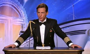 "7. David Miscavige in full Sea Org gear as its ""Captain."""