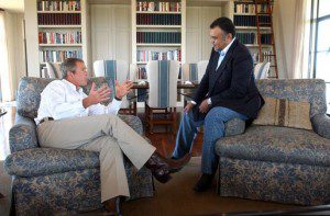 13. President Bush and Prince Bandar at Crawford TX Ranch