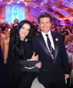 3. Tom Cruise wearing his special medal at last year's gala