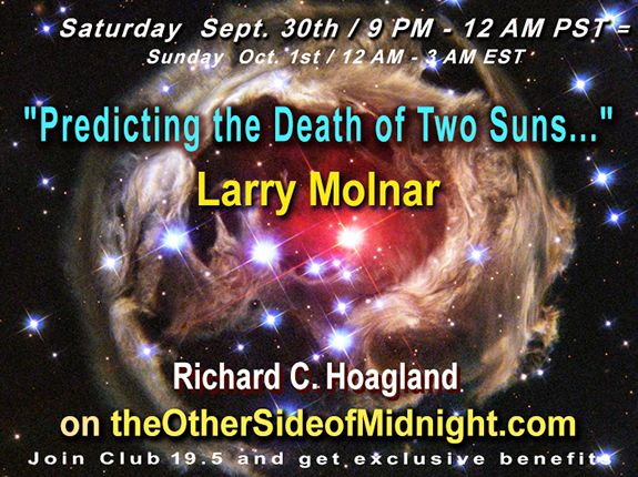 "2017/09/30 –  Professor Larry Molnar –  ""Predicting the Death of Two Suns …."" / Dr. Joseph Buchman"