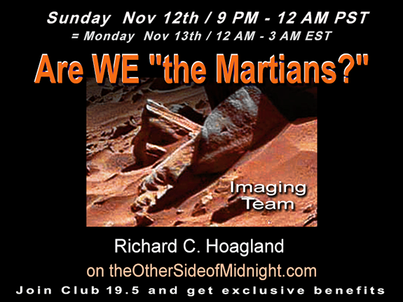 "2017/11/12 – EM Imaging Team – Are WE ""the Martians?"" – Keith Laney, Kynthea, Andrew Currie, Tim Saunders, Keith Morgan"