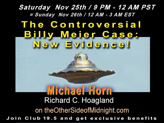 2017/11/25 – Michael Horn – The Controversial Billy Meier Case: New Evidence!