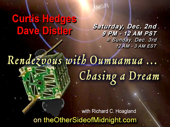 2017/12/02 –  Dave Distler & Curtis Hedges – Rendezvous with Oumuamua … Chasing a Dream