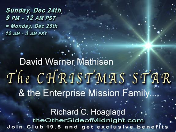2017/12/24 – David Warner Mathisen & the Enterprise Mission Family – The Christmas Star