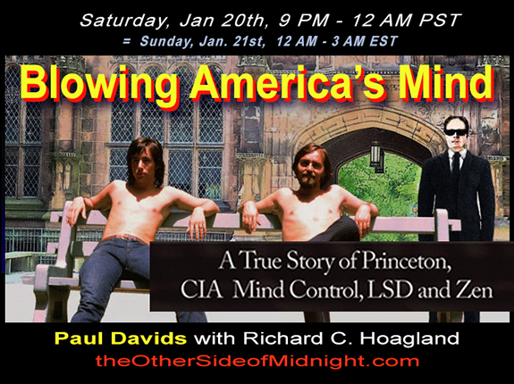 2018/01/20 – Paul Davids – Blowing America's Mind – A True Story of Princeton, CIA, Mind Control, LSD and Zen