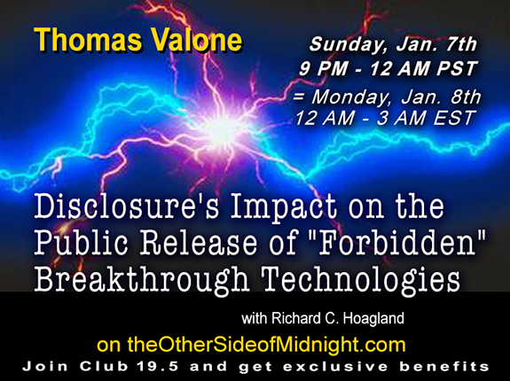 "2018-01-07 – Thomas Valone, Phd. – Disclosure's Impact on the Public Release of ""Forbidden"" Breakthrough Technologies"