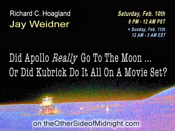 2018/02/10 – Jay Weidner – Did Apollo Really Go To The Moon …Or Did Kubrick Do It All On A Movie Set? Elon Musk  & Starman
