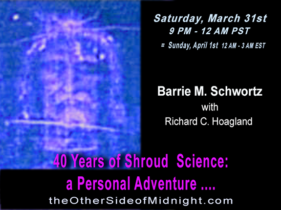 2018/03/31  – Barrie M. Schwortz – 40 Years of Shroud Science: a Personal Adventure ….