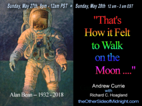 "2018/05/27 – Andrew Currie – ""That's How it Felt to Walk on the Moon …."""