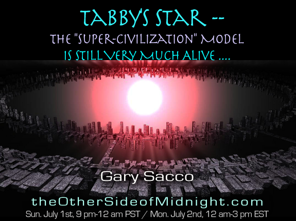 "2018/07/01 – Gary Sacco – Tabby's Star — The ""Super-Civilization"" Model is Still Very Much Alive …."