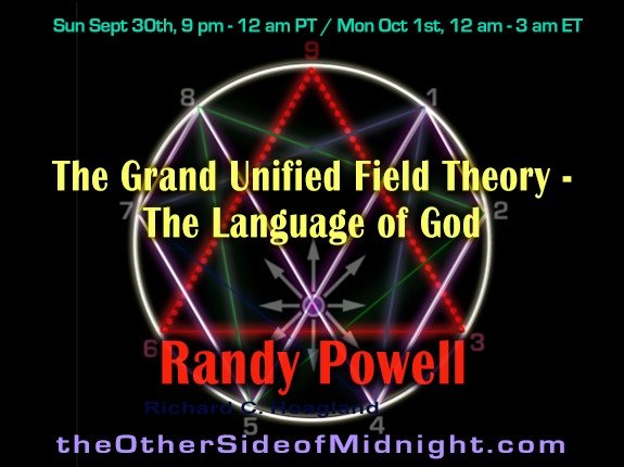 2018/09/30 – Randy Powell – The Grand Unified Field Theory – The Language of God