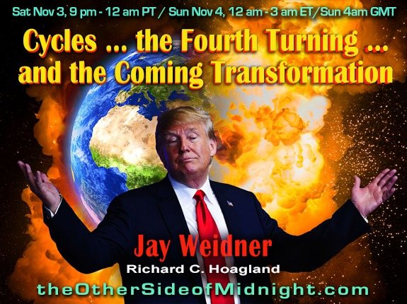 2018/11/03 – Jay Weidner – Cycles … the Fourth Turning … and the Coming Transformation / Georgia Lambert
