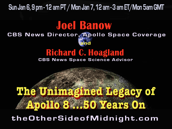 2019/01/12 – Joel Banow – The Unimagined Legacy of Apollo 8 … 50 Years On