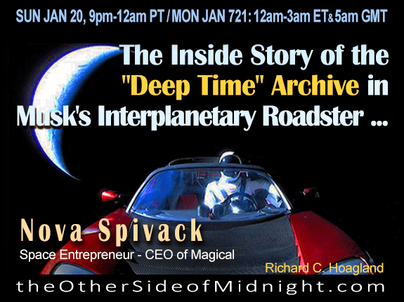 "2019/01/20 – Nova Spivack – The Inside Story of the ""Deep Time"" Archive in Musk's Interplanetary Roadster …."