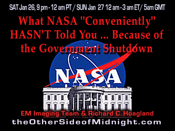 "2019-01-26 – Enterprise Mission Imaging Team – What NASA ""Conveniently"" HASN'T Told You … Because of the Government Shutdown"