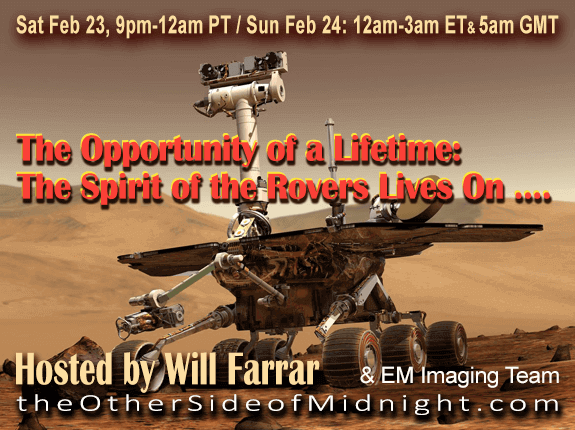 2019/02/23 – Will Farrar and EM Imaging Team – The Opportunity of a Lifetime:  The Spirit of the Rovers Lives On ….