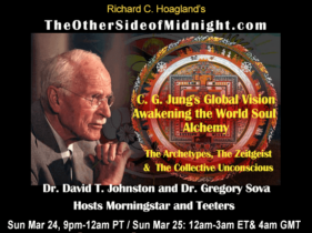 2019/03/24 – Robert Morningstar, Scott Teeters, Dr. David T. Johnston and Dr. Gregory Sova – C. G. Jung's Global VisionAwakening the World SoulAlchemy. The Archetypes, The Zeitgeist&The Collective Unconscious