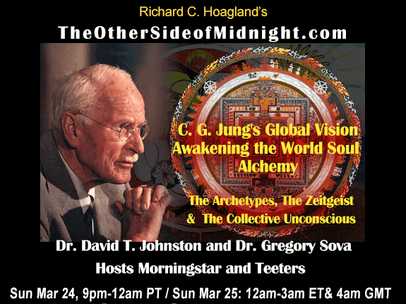 2019/03/24 – Robert Morningstar, Scott Teeters, Dr. David T. Johnston and Dr. Gregory Sova – C. G. Jung's Global VisionAwakening the World Soul Alchemy. The Archetypes, The Zeitgeist & The Collective Unconscious