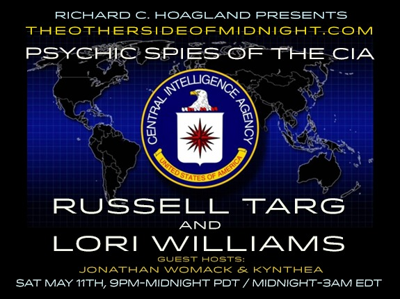 2019/05/11 – Russell Targ & Lori Williams – Guest Hosts: Jonathan Womack & Kynthea – Psychic Spies of the CIA