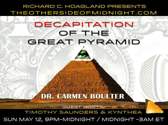 2019/05/12 – Dr. Carmen Boulter – Decapitation of the Great Pyramid