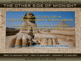 2019/06/02 – Chuck Apps – Guest Hosts: Timothy Saunders & Kynthea – Chronicles of a Contemporary Explorer: Unraveling Ancient History without Agenda or Bias
