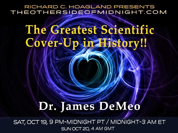 2019/10/19 – Dr. James DeMeo – The Greatest Scientific Cover-Up in History!!