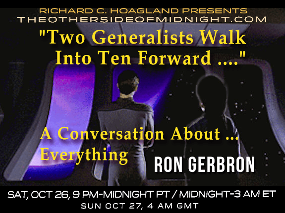 "2019/10/26 – Ron Gerbron – ""Two Generalists Walk Into Ten Forward ….""  A Conversation About … Everything"