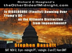2019/11/02 – Stephen Bassett & Georgia Lambert – Is DISCLOSURE (Finally!) Dawning Over Trump's DC — as the Ultimate Distraction … from Impeachment?