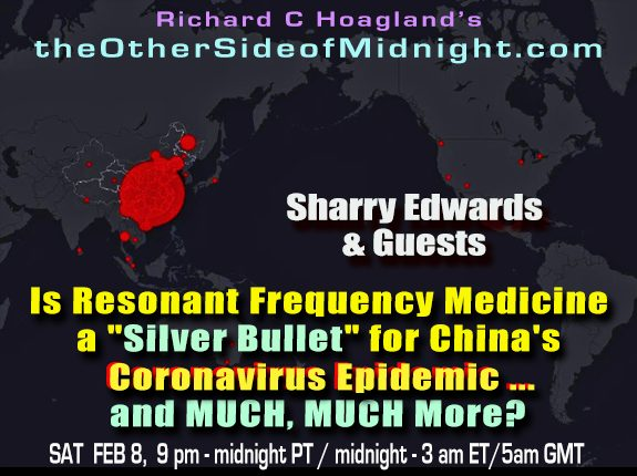 "2020/02/08 – Sharry Edwards, James Marshall, Charlie Ziese, Robert Morningstar, Barbara Honegger  – Is Resonant Frequency Medicine a ""Silver Bullet"" for China's Coronavirus Epidemic … and MUCH, MUCH More?"