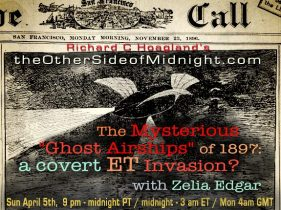 """2020/04/05 – Zelia Edgar – The Mysterious """"Ghost Airships"""" of 1897: a covert ET Invasion?"""
