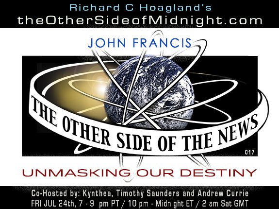 2020/07/24 – John Francis – UNMASKING OUR DESTINY – TOSN 17