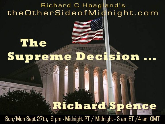 2020/09/27 – Dr. Richard Spence – The Supreme Decision …