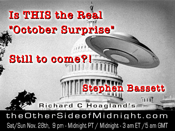 "2020/11/28 – Stephen Bassett – Is THIS the Real ""October Surprise"" Still to come?!  & Keith Morgan on Utah Monolith"