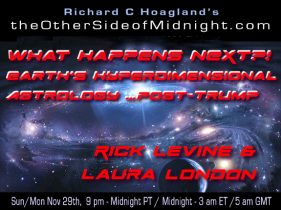 2020/11/29 – Rick Levine & Laura London – What Happens NEXT?!  Earth's Hyperdimensional Astrology … Post-Trump
